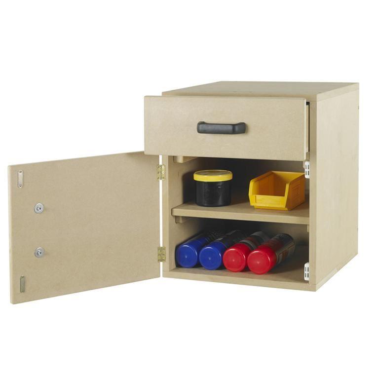 Single drawer & cupboard unit