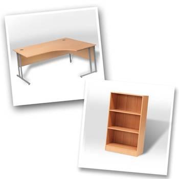 Ergo desk + bookcase H1325mm