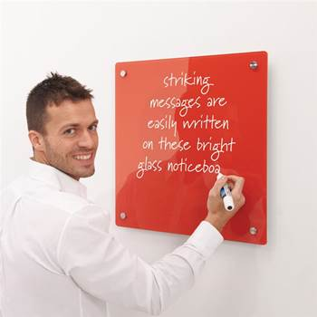 Write-on® coloured magnetic glass boards