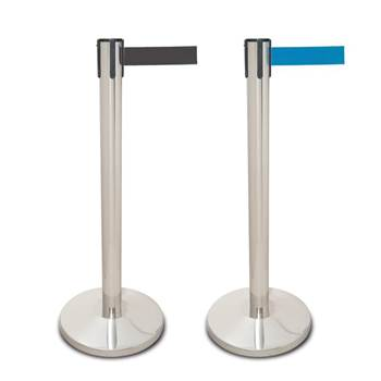 Stainless steel belt barriers