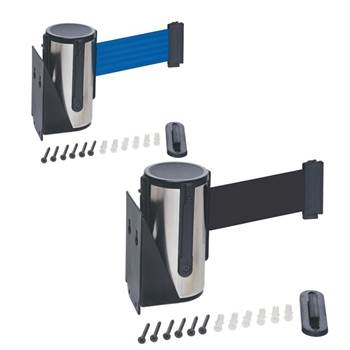 Wall-mounted stainless steel belt barrier