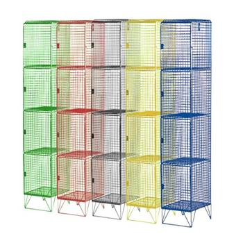 Budget mesh lockers: 4 compartments