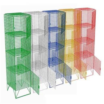 Low level mesh lockers: 4 compartments