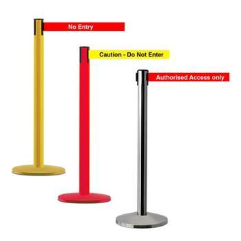 Printed barriers: 2.3 m