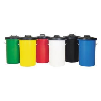 Heavy duty coloured dustbin: 85L