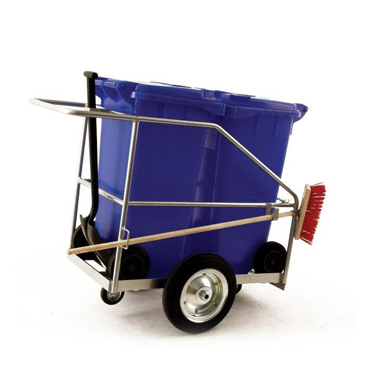 Large street cleaning trolley: 2 x 120L bins