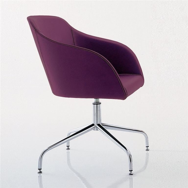 """Tulip"" visitor chair: spider base"