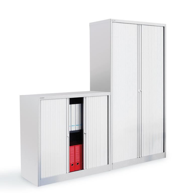 Bisley side tambour cabinets