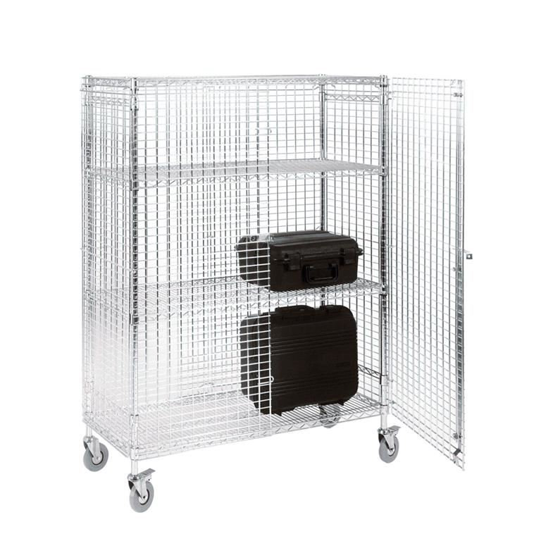 Chrome wire mobile security cage