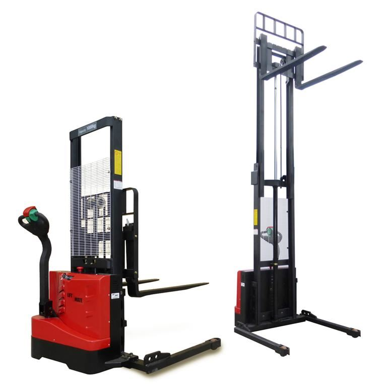 Powered straddle stacker: 1000kg
