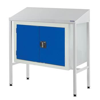 Team Leader Workstation with Double Cupboard