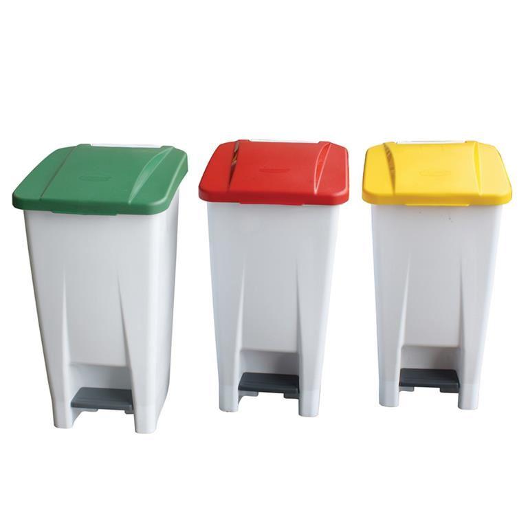 Plastic pedal bin: 60L
