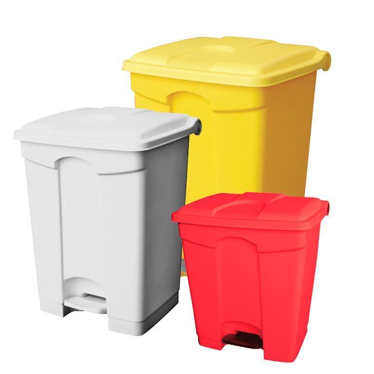 Plastic pedal bin: 30L