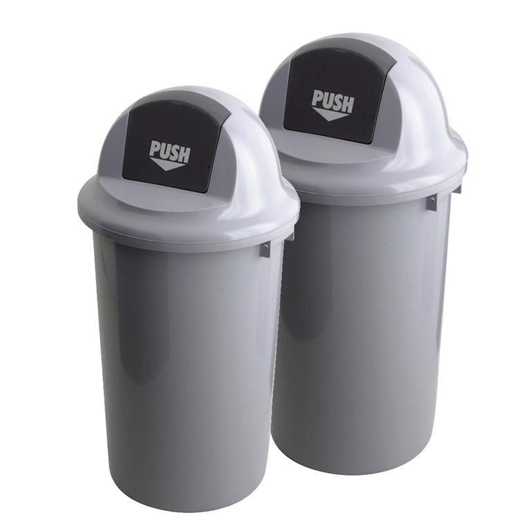 Plastic push bin