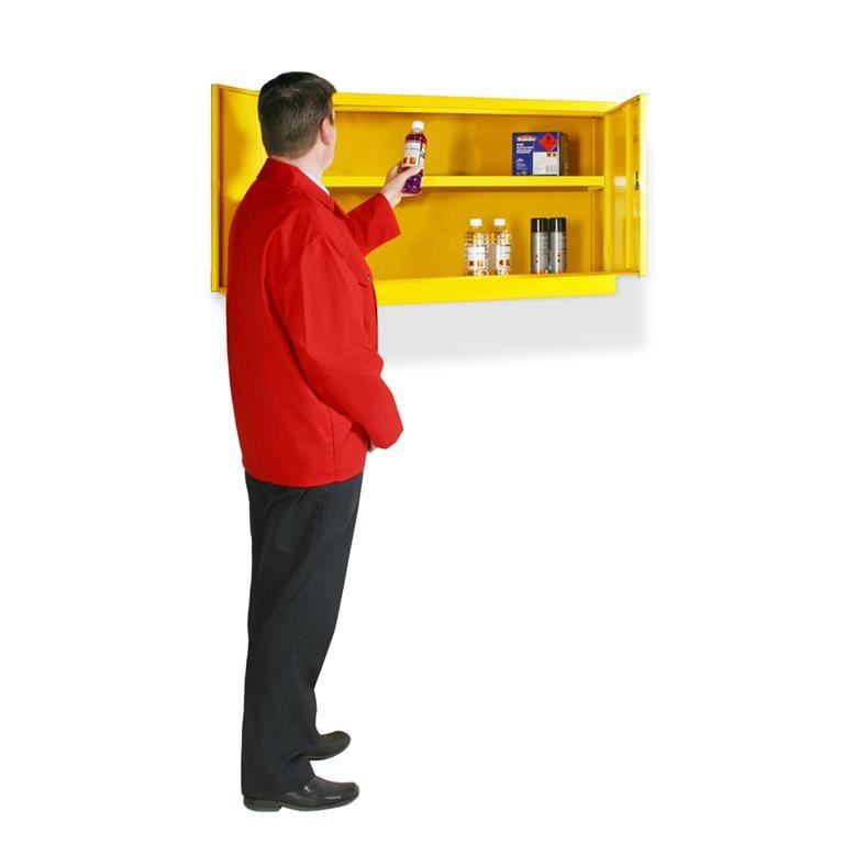 Wall mounted hazardous substance cabinets