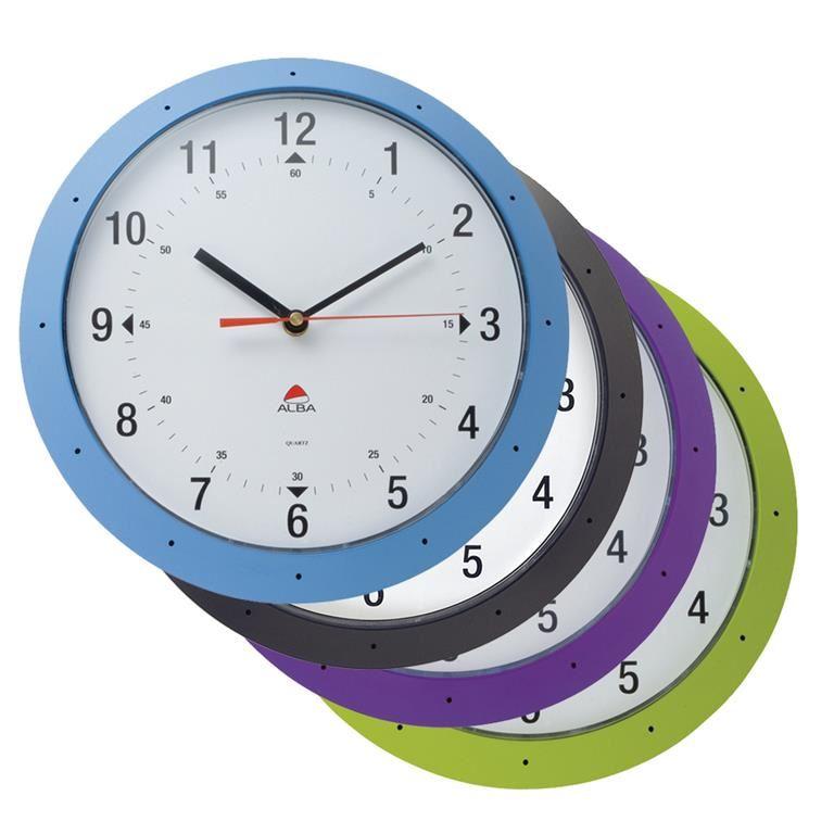 Coloured wall clock