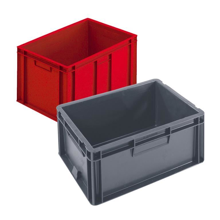 Euro stacking boxes: solid