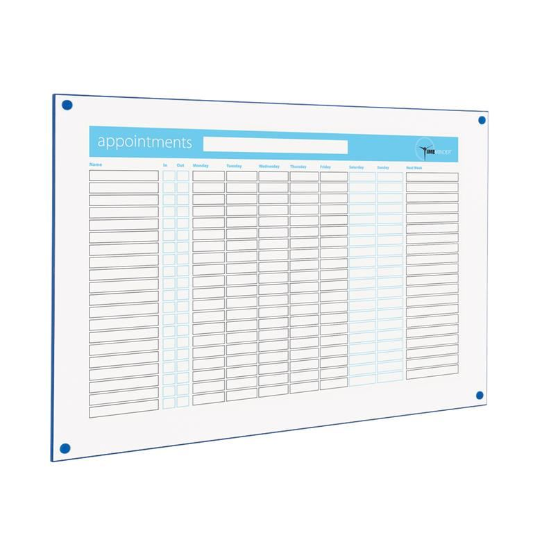 Timeminder® planning boards: appointments