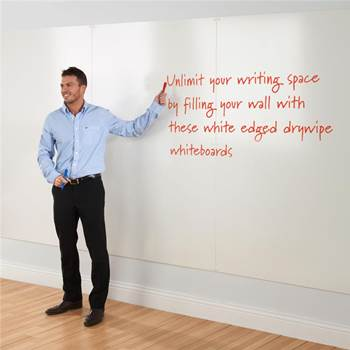 Write-on® frameless whiteboard wall