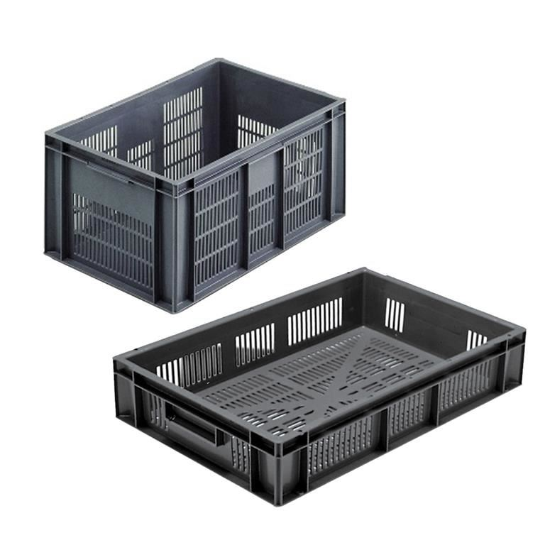 Euro stacking boxes: perforated