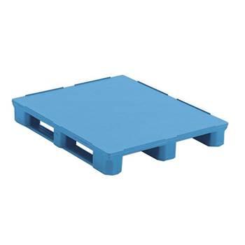 Plastic pallet: solid deck
