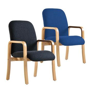 """""""Yealm"""" reception chair: double arms"""