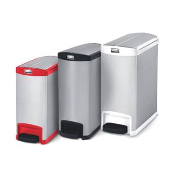 Slim-Jim® butterfly stainless step-on containers