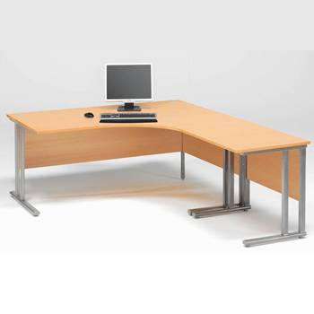 "Pakke: Hjørneskrivebord + Avlastningsbord ""Flexus"""