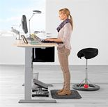 Flexus height adjustable desk, straight