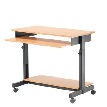 Height adjustable computer workstation