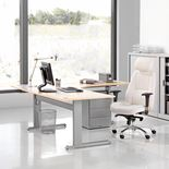 Flexus height adjustable desk, corner