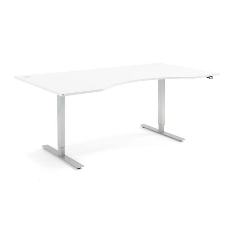 Skrivbord med maguttag - höj och sänkbara, Flexus, längd 2000 mm