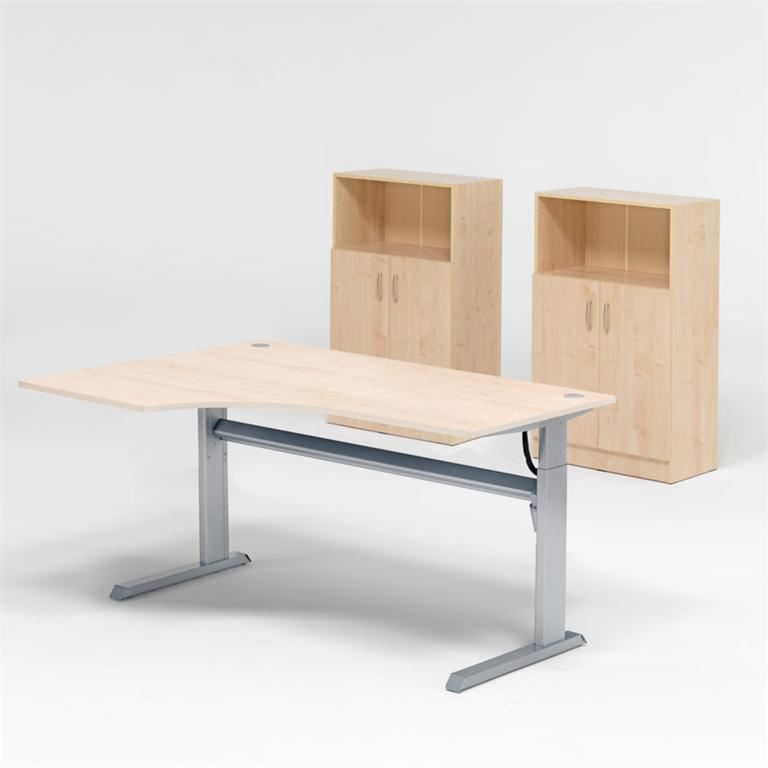 Office Package: Height Adjustable Desk+2 Cabinets