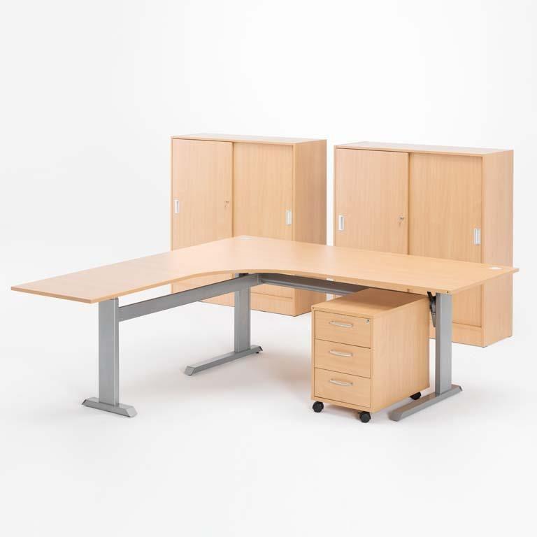 Skrivbord Med Skåp Och Hurts