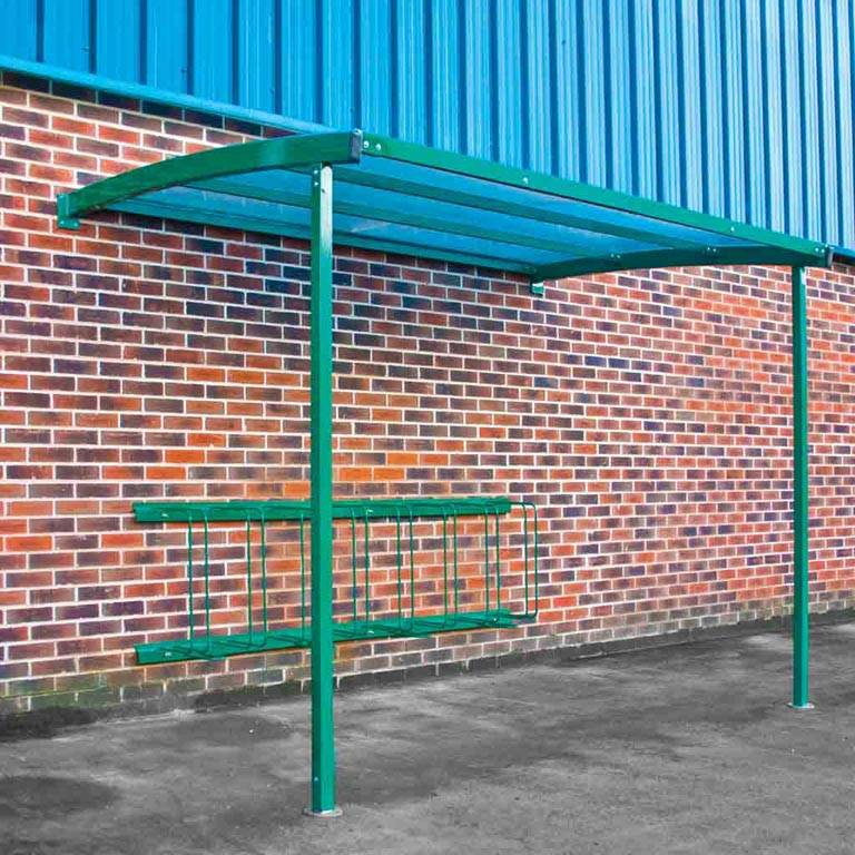 Wall-mounted cycle shelters