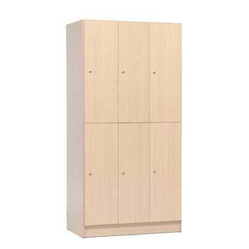 Wooden clothes lockers