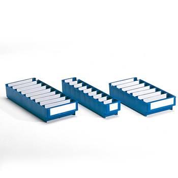 Lagerboks i blå Polypropen, liten