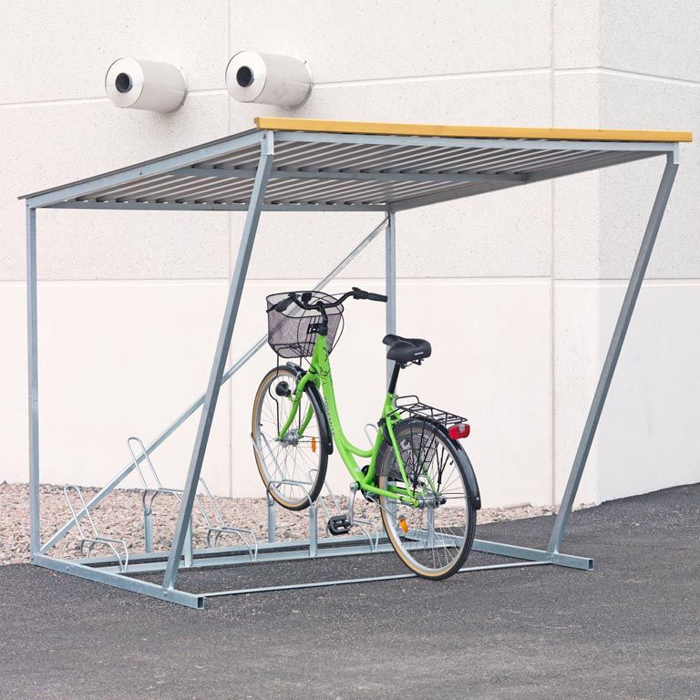 Complete bicycle shelter
