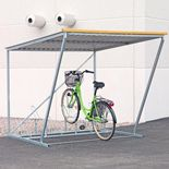 Cykelgarage med cykelställ