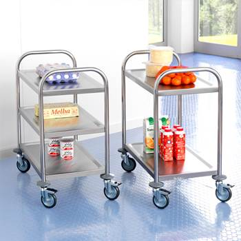 """Budget"" stainless steel trolley"