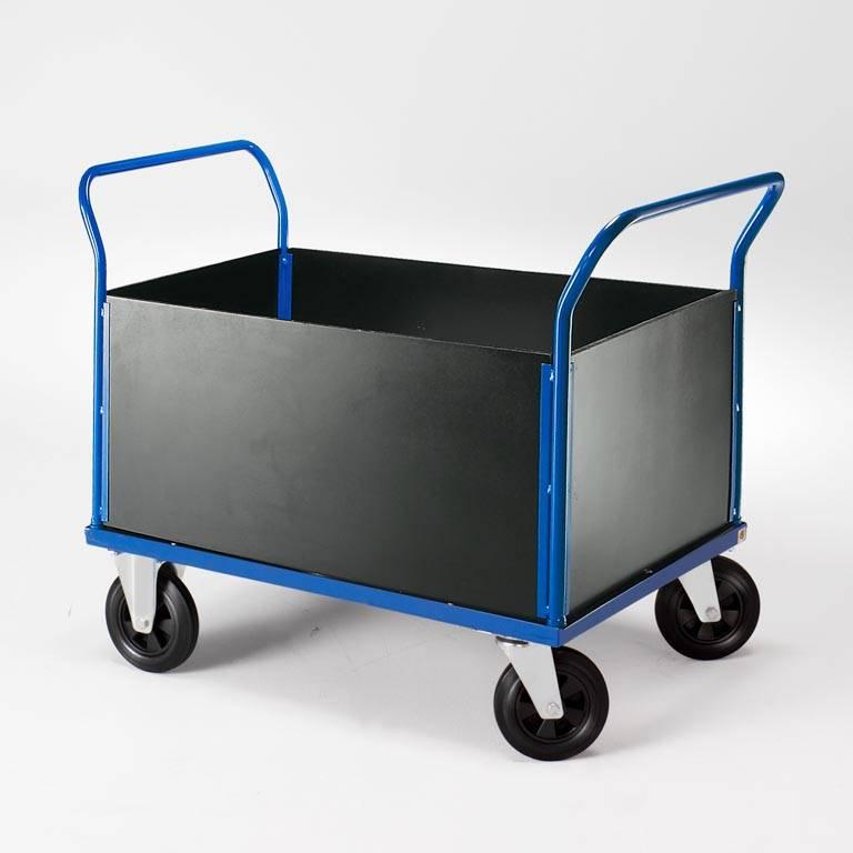 Wózek transportowy - 2 ramy szczytowe oraz wysokie burty