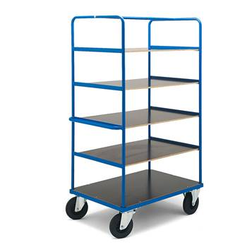 Platform trolley: 5 shelves