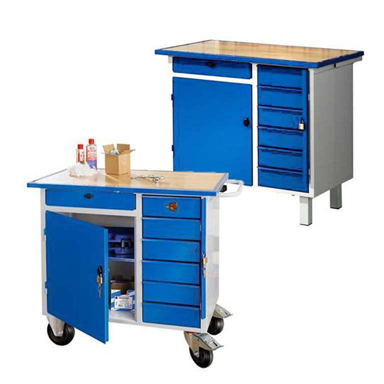 """Flex"" tool bench, 1 door + 7 drawers"