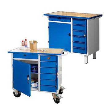 """""""Flex"""" tool bench: mobile: cabinet & 7 drawers"""
