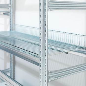 Galvanised extra shelves