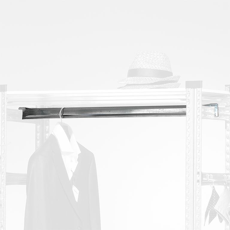 Clothes rail for store shelving
