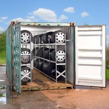 Komplett dekkreol for container