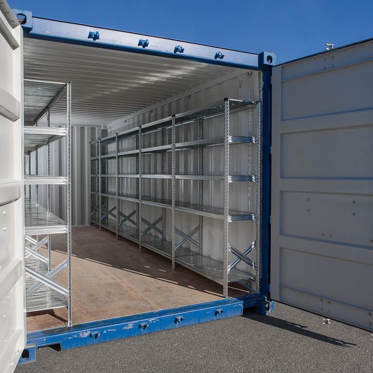 Hyllställ för 40-fots container