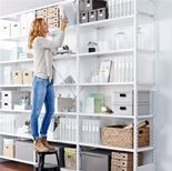 """Light"" office shelving: add on unit"