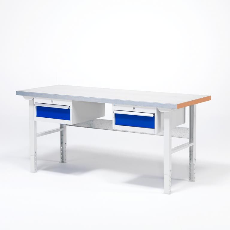 Arbeidsbord inkl. 2 Skuffer/Hengeseksjoner